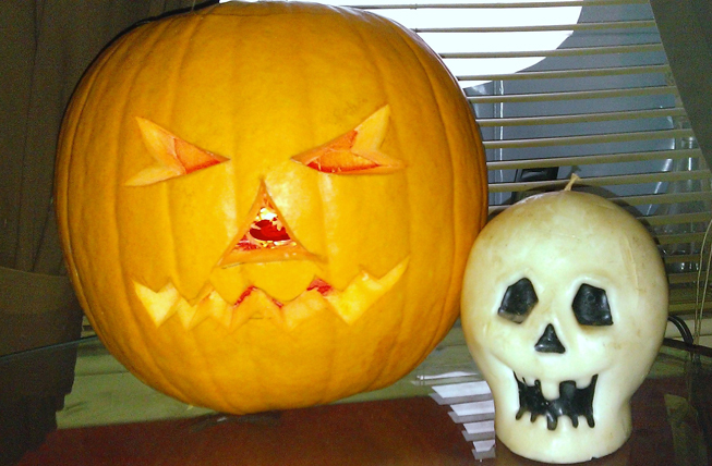 George Laws and Son send us a stern faced pumpkin from Scotland