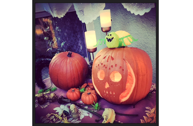 Katie Shacklock's Day of the Dead style entry has soft-touch lighting elegance, a Tim Burton touch of artistry.