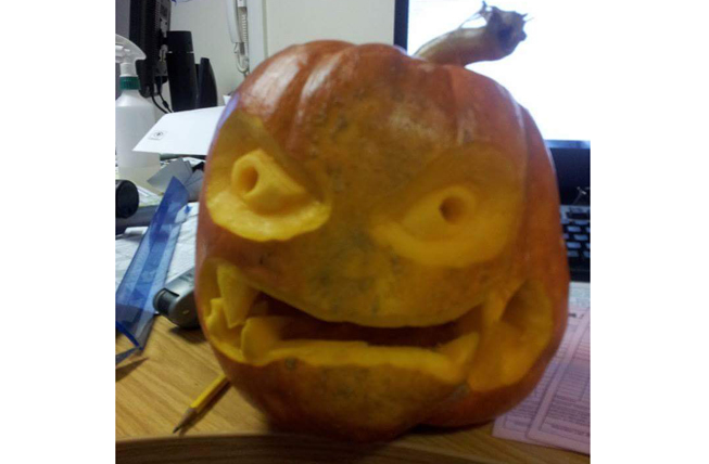 Shane Walker knows how to create animated characters with his Pumpkins (cool eyes Shane)