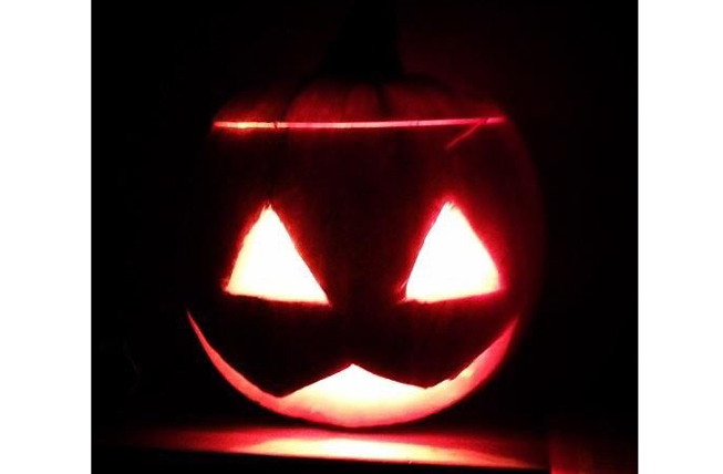 Tamsin Mathias shows great talent with this very spooky pumpkin for little Esme (how clever is your mummy Esme?)