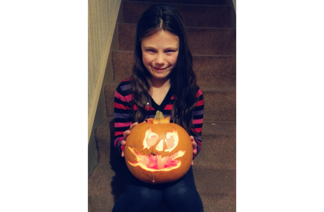 "Maya Morgan's ""spooky face"" and personal effort wins 3rd place!  Well Done Maya!"