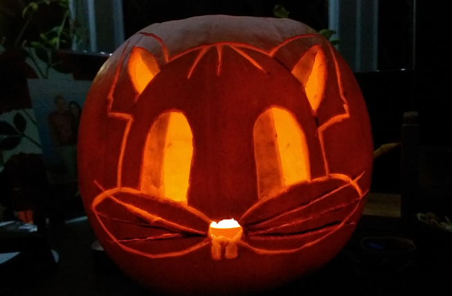 Florinela Nedelcu's beautiful Halloween cat is a well deserving entry (we can't wait to see next years...)