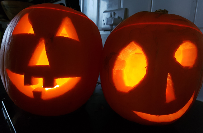 Pumpkin Entry: Master Benjamin Fryatt, son of Louisa Fryatt (with help from Daddy)