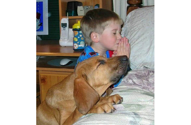 Praying with my Dog