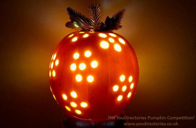 Eileen's Pumpkin created using a drill bit